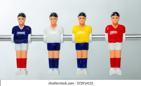football players on the table background