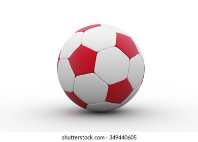 football /  red soccer ball / soccer ball isolated on white background / football ball isolated