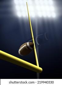 Football Score Kick Under Spotlight
