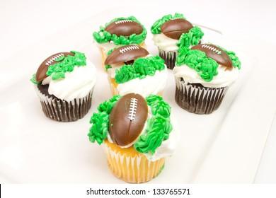 Football season cupcakes