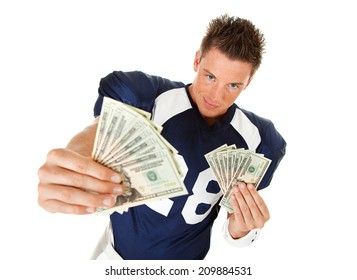 Football: Serious Player Holds Out Fanned Money