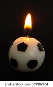 football shaped candle