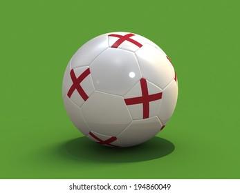 Football Soccer Ball with flag