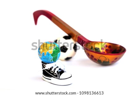 d8e6908fc Football Soccer Ball Sports Shoes Globe Stock Photo (Edit Now ...