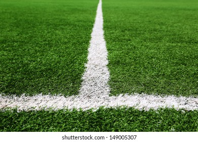Football and soccer field grass stadium