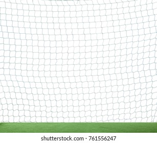 Football soccer net isolated