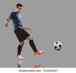 football soccer player in action.