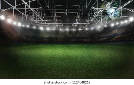 football soccer stadium 3D rendering