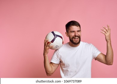 football, sport, ball, logo, man