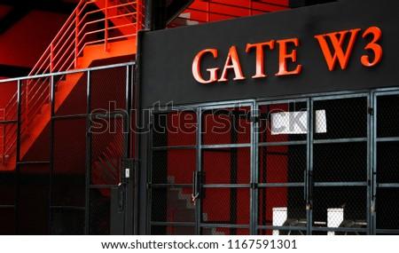 football stadium entrance gate