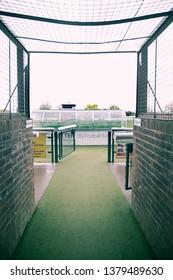 Football stadium. London, England. April 4, 2019