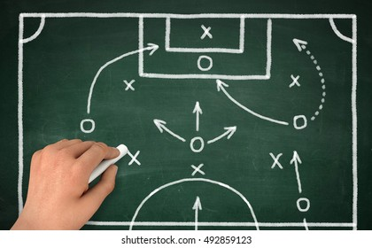 football strategy   3d illustration