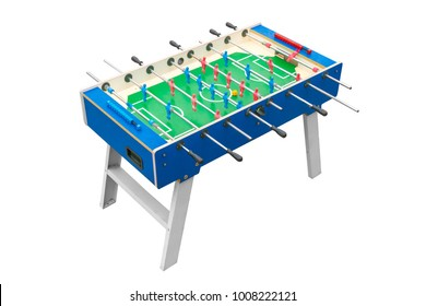 Football table on a white background. Isolated