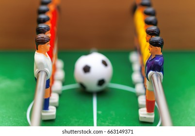 Football table soccer. Sport team football players