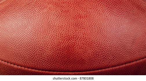 football texture with bottom seam showing