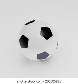Football white background