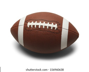 Football with White Stripes Isolated on White Background.