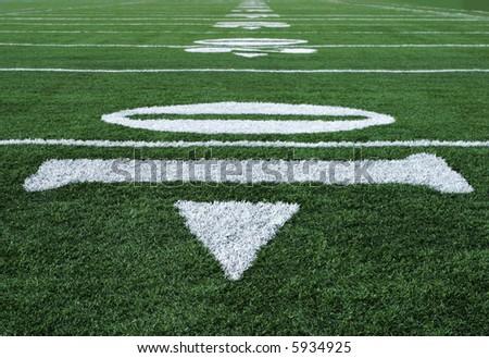 Football Yardage Markers Ten Yard Line Stock Photo Edit Now