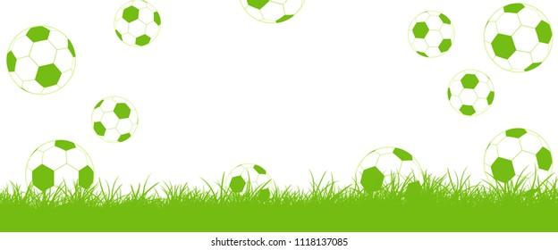 Footballs fly on lawn