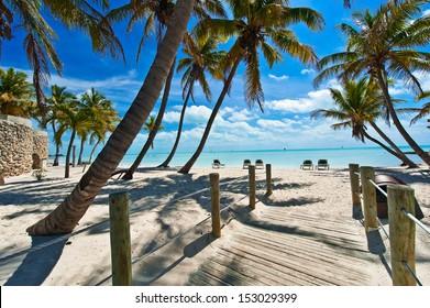 footbridge to the beach - Key West