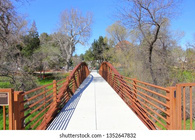 Footbridge in Downtown Atascadero, California