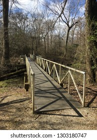 Footbridge on the Old River Trail at Grenada Lake Mississippi