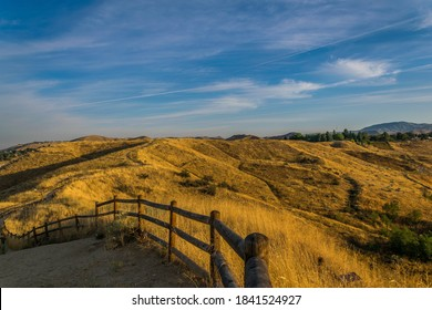 Foothills at dawn in Boise Idaho