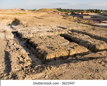 Footings on cleared land