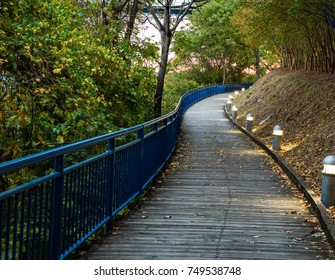 Footpath and bike path along the south shore of the Tennessee River in Chattanooga, Tennessee