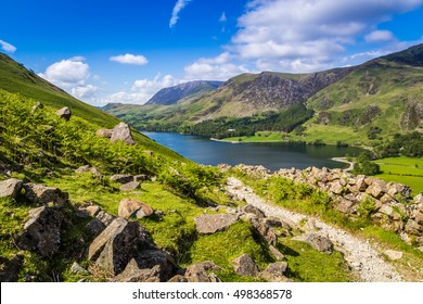 Footpath to Buttermere, The Lake District, Cumbria, England