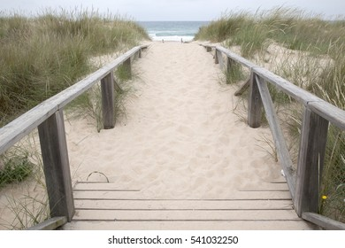 Footpath to El Palmar Beach, Cadiz, Spain