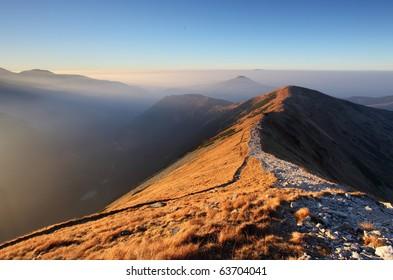 Footpath in high west Tatras - Rohace