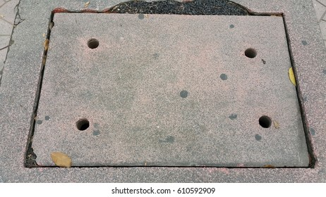 footpath , texture pipe cover