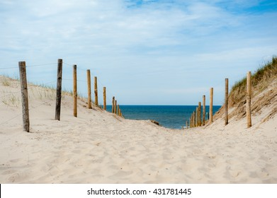 Footpath through the dunes to the beach
