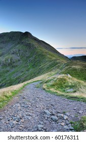 Footpath towards Deepdale Hause and Cofa Pike in the English Lake District