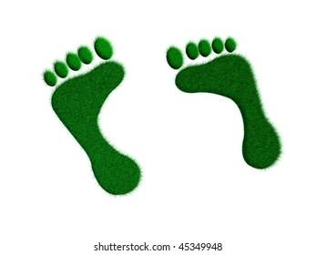 footprint illustration
