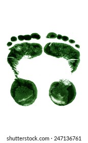 footprint on a white background