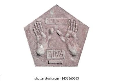 footprints of a chimpanzee named Zina