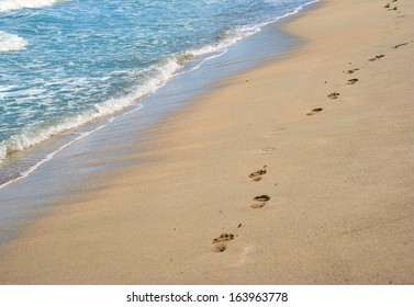 Footprints In The Sand Images Stock Photos Vectors Shutterstock