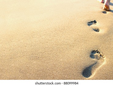 Footprints In The Sand Beach Images Stock Photos Vectors