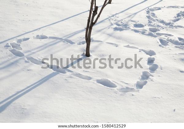 footprints-snow-shape-heart-around-600w-