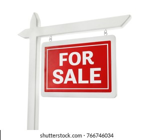 """""""For sale"""" sign on white background"""