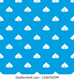 Forage cap pattern repeat seamless in blue color for any design. geometric illustration