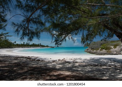 Forbes Hill Beach is located on Little Exuma, Bahamas.