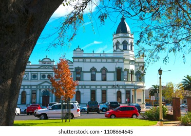 'Forbes, NSW / Australia -August 4 2017 A beautiful building in central west NSW Australia, the administration center for the Town and surrounding areas.