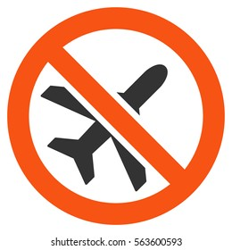 Forbidden Ariplanes raster icon. Style is flat graphic symbol.