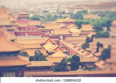 The Forbidden City, Beijing, China. Selective Focus.