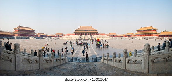 the forbidden city at  beijing in panorama,China