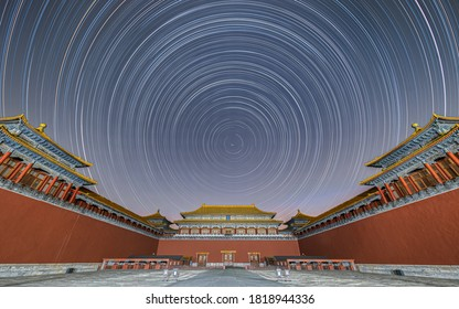 Forbidden City night Startrails in Beijing