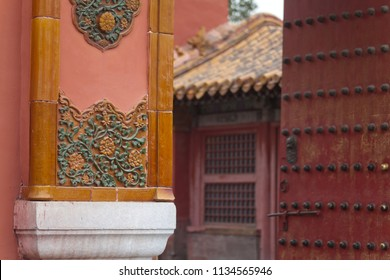 Forbidden city on a overcast morning in early spring in Beijing, China